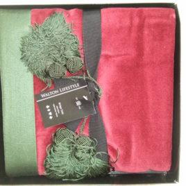 Luxury cotton velvet red bridge cloth