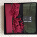 Luxury cotton velvet green bridge cloth